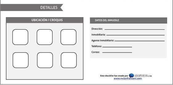 Checklist analizar inmueble 4