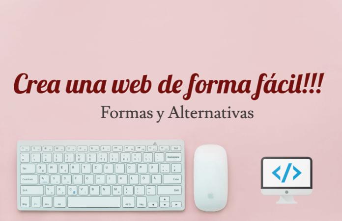 crear una página web de forma facil y sencilla