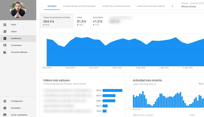 crecer en youtube - tiempo real