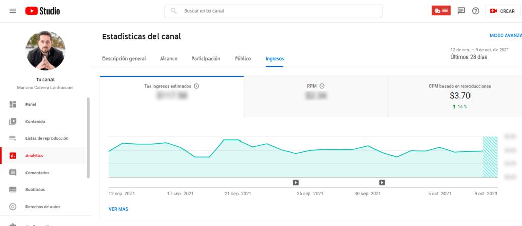 ingresos youtube ganar dinero con redes sociales