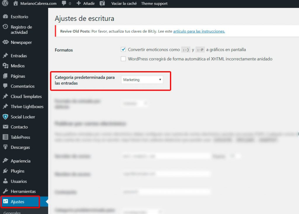 instalar-wordpress-categoria-predeterminada