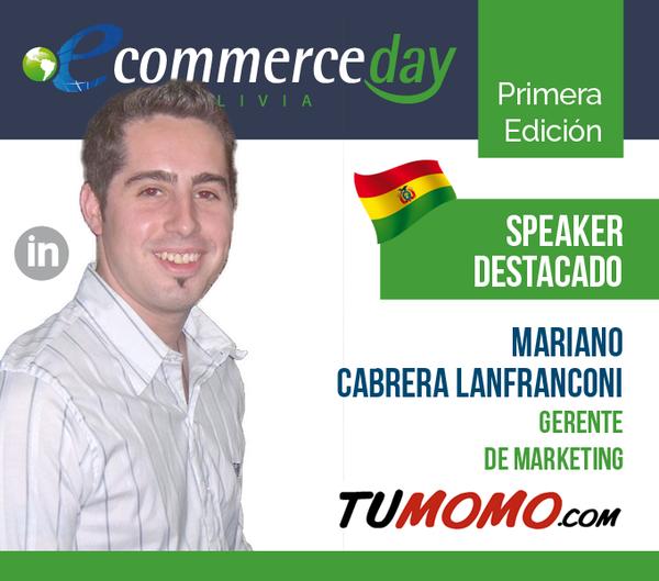 mariano cabrera lanfranconi en el ecommerce day bolivia