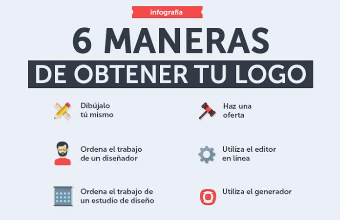 obtener un logo 6 formas infografia