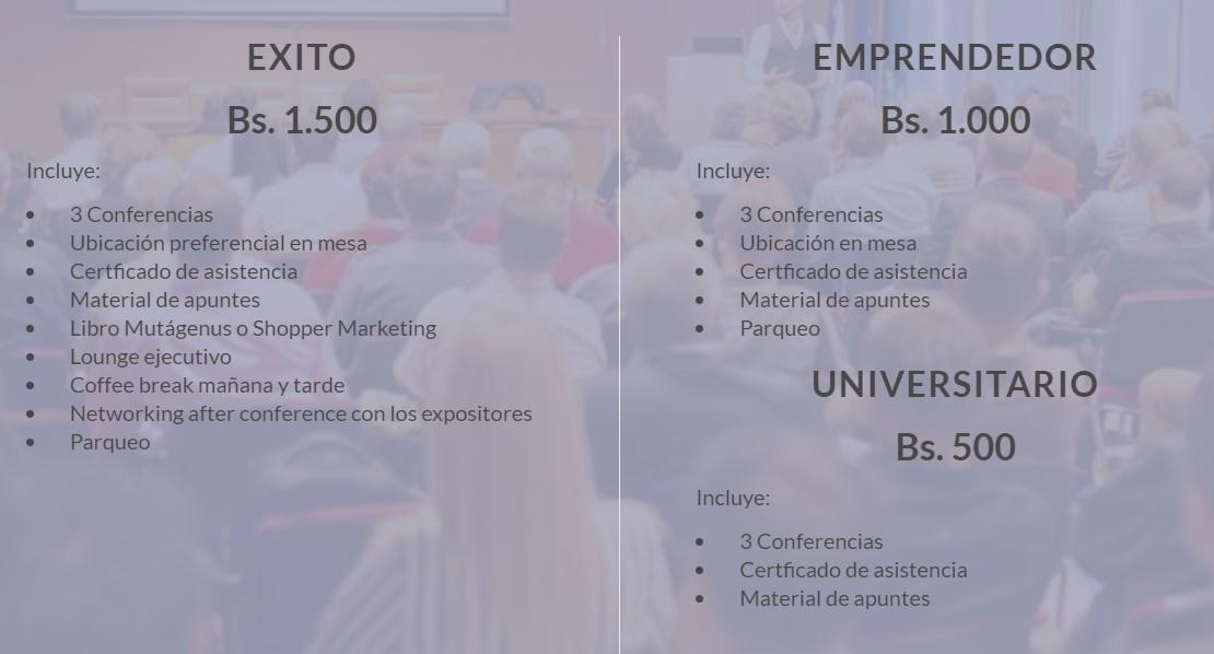 precios emprendedores de bolivia exito