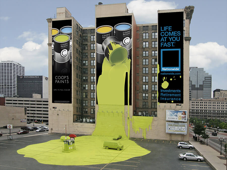 que es ambient marketing ejemplo coops paints (1)