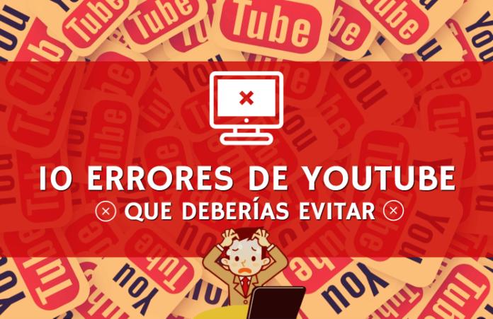10 errores de youtube que deberías evitar tapa