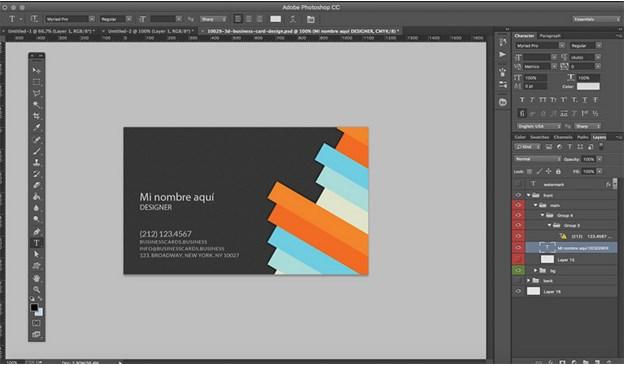 0941df4361dbe Crear Tarjetas de Presentación usando Plantillas Gratis ...